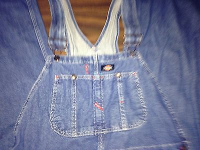 B702 Men's Dickies Blue Jean Overall Size 34X32 100% COTTON