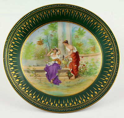 Magnificent Royal Vienna Painted Porcelain plate 1900