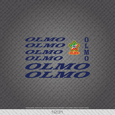 Transfers n.820 Olmo Bicycle Frame Stickers Decals