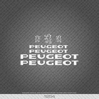 Decals Transfers 0398 Peugeot Bicycle Frame Stickers