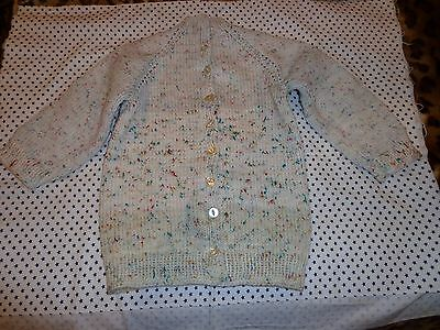 beautiful hand made sweater multi color unisex size 8-10.