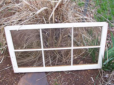 "Old Window Sash 6 Pane for Wedding or Picture Frame 36"" x 27"" Glass 10"" x11 1/2"