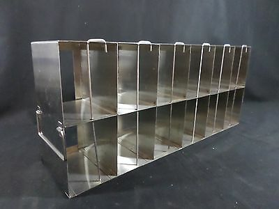 Laboratory Stainless Steel 12-Section Well Plate Upright Freezer Storage Rack