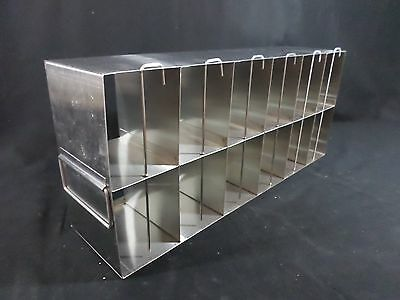 USA SCIENTIFIC Stainless Steel 12-Section Multi Well Plate Upright Freezer Rack