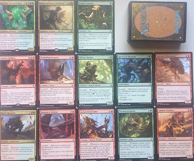 Instant LANDFALL DECK! Ready To Play 60 Cards Mtg Red Green