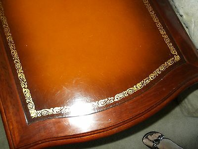 Vintage Mahogany Duncan Phyfe Style Tables Leather Top