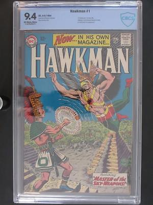 Hawkman #1 -NEAR MINT- CBCS 9.4 NM -DC 1964- 1st App of Hawkman in own title!!!