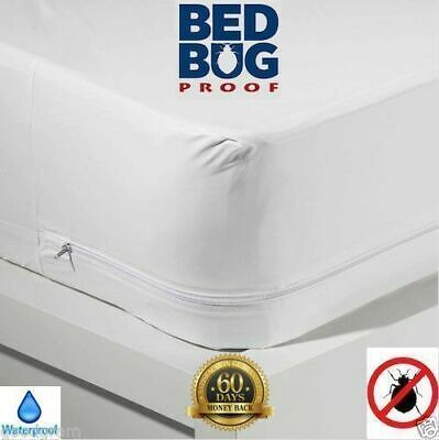 Mattress COVER Protector WATERPROOF Pad King Queen Size Bed VINYL Hypoallergenic