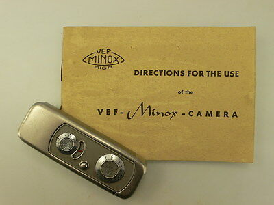Vef Riga Minox Directions For Use In English, Rare