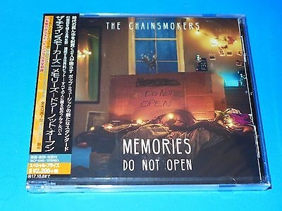 2017 JAPAN CHAINSMOKERS MEMORIES DO NOT OPEN CD w/3 BONUS TRACKS FOR JAPAN ONLY