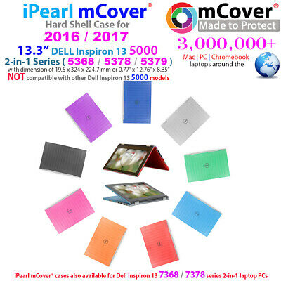 "NEW iPearl mCover Hard Case for 13"" Dell Inspiron 13 5368 5378 5379 2in1 laptop"