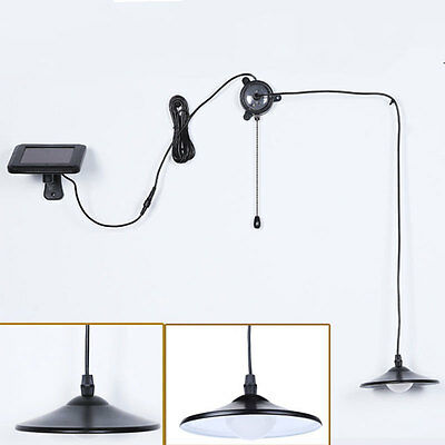 Solar Power Hanging LED Outdoor Patio Porch Shed Light Lamp Home Yard Decoration