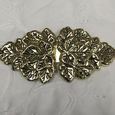 Vintage Gold Metal Leafe Belt Buckle