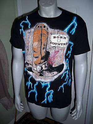 Vintage 90's American Thunder Born Country Cowboy Shirt - Size Large