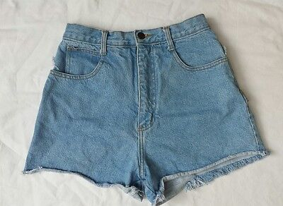 VTG 80s Niki Lee California Junior Size 9 Denim High Waist Curvy Cutoff Shorts
