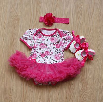 "Reborn Baby Girl Clothes 20''-23"", NOT Included Doll, Red Dress+Headdress+Shoes"