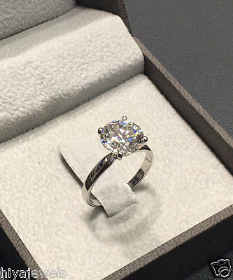 2ct Delicated Round Cut Diamond Solitaire Engagement Ring Real 14K White Gold