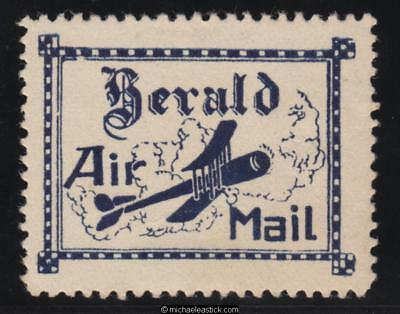 """10 April 1922 Herald and Weekly Times, Blue """"Herald Air Mail"""" vignette, AAMC 64a"""