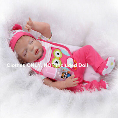 "Set of Reborn Baby Girl Clothes for 20''-23"" Newborn Baby, NOT Included Doll"