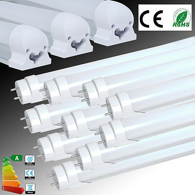 UK 1/4/10x T5 T8 G13 1ft 2ft 4ft LED SMD Tube Light Fluorescent Lamp Replacement