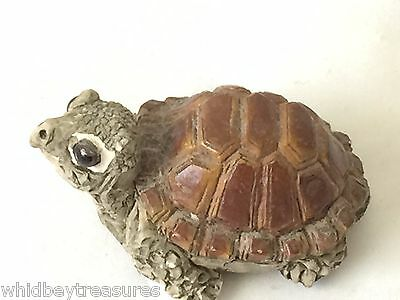 Older United Design Turtle From Noble, OK Stone Critter Hand Crafted