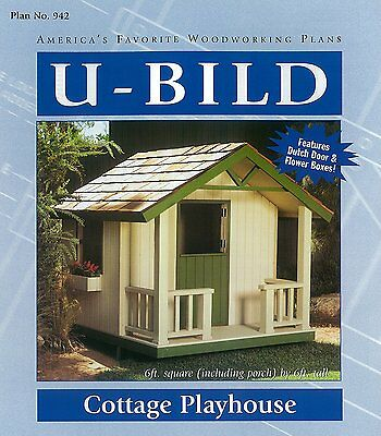 U Bild 942 Cottage Playhouse Project Plan Full Size Traceable Patterns