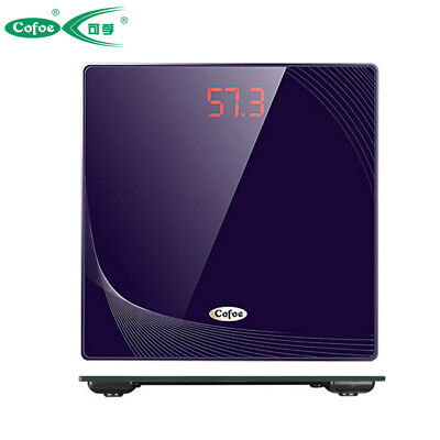 Tempered Glass LCD Electronic Body Weight Digital Bathroom Scale LED backlight
