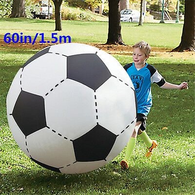 Giant Inflatable Foot Ball Super Sized 60inch Bouncing Football Toy Beach Balls