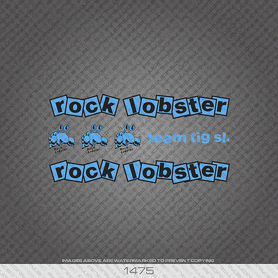 Decals Black Transfers 01472 Rock Lobster Bicycle Stickers