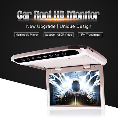 12.1 Inch Car Ceiling Roof Mounted Monitor Flip Down TFT LCD Monitor Player