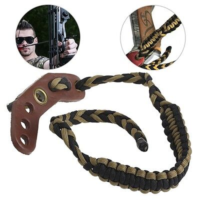 Wrist Sling Nylon Rope Strap Adjustable Braided For Compound Bow Archery Hunting