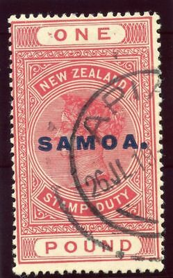 Samoa 1918 KGV £1 rose-carmine very fine used. SG 132.