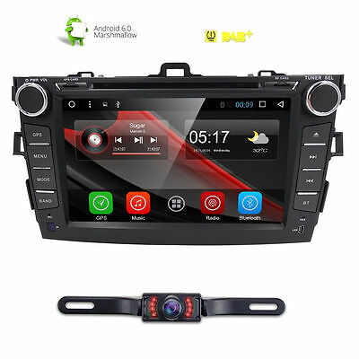 Android 6.0 Car DVD Player Radio GPS Navi For Toyota Corolla 2012 8''Stereo+CAM