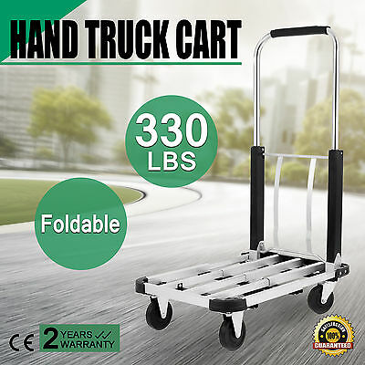Aluminum Foldable Platform Hand Truck Cart 330LBS Luggage Collapsible Trolley