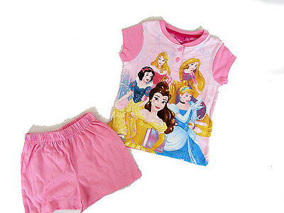 PIGIAMA corto bambina DISNEY PRINCESS sun city - SERAFINO IN COTONE - ART. 7255