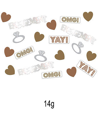 14G OMG! ENGAGEMENT METALLIC TABLE CONFETTI Celebration Party Decorations 902233