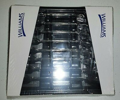 "Williams Snap On Industrial WS-1168RC Ratcheting Wrench Set, 8 Piece 5/16""-3/4"""