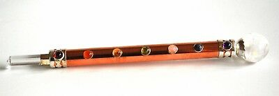 Reiki Charged Copper Clear Quartz Crystal Healing Wand