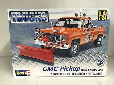+++ Revell US Monogram 1/24 GMC® Pickup w/ Snow Plow Plastic Model Kit 85-7222
