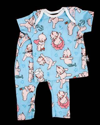 Six Bunnies Kewpie Baby Pyjama Set Baby Rockabilly Tattoo Cool Cute Gift Infant
