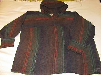 "HAND WOVEN WOOL ""WEATHERTOP of Colorado"" PONCHO.Scottish / Irish RUANA.Pull Over"