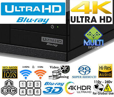 Sony X800 4K Uhd All Region Code Free Blu-Ray Dvd Player All Zone Abc Dvd 0-9