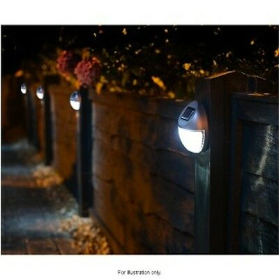 10 X Solar Power Powered Door Fence Wall Lights Led Outdoor Garden Shed Lighting
