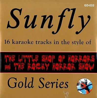 Sunfly Karaoke Gold Series Vol 33 Little Shop of Horrors & Rocky Horror Picture