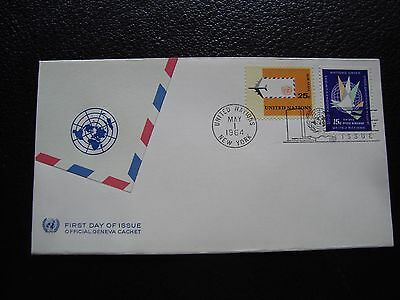 NATIONS-UNIES (new-york) - enveloppe 1er jour 1/5/1964 (cy97) united nations
