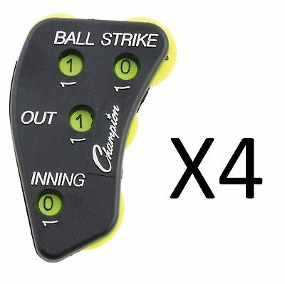 Champion Sports 4 Wheel Optic Yellow Call Order Umpire Indicator - PI4 (4-Pack)