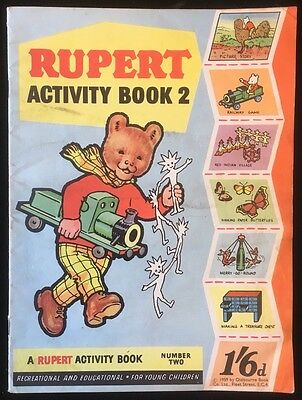 Rupert the Bear - Activity Book #2 - 1959 - All Complete - Oldbourne Book Co Ltd