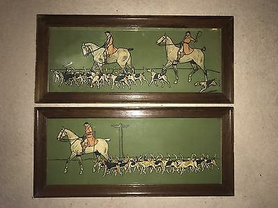 """A Pair Of Cecil Aldin Coloured Prints / Art """" The Whip """" And """" The Huntsman """""""