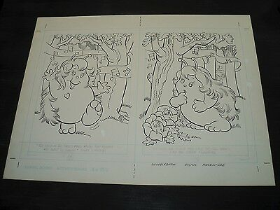 Snugglebumm Coloring Book Original Artwork RARE! Stan Goldberg! ART#0561