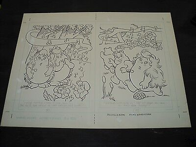 Snugglebumm Coloring Book Original Artwork RARE! Stan Goldberg! ART#0573